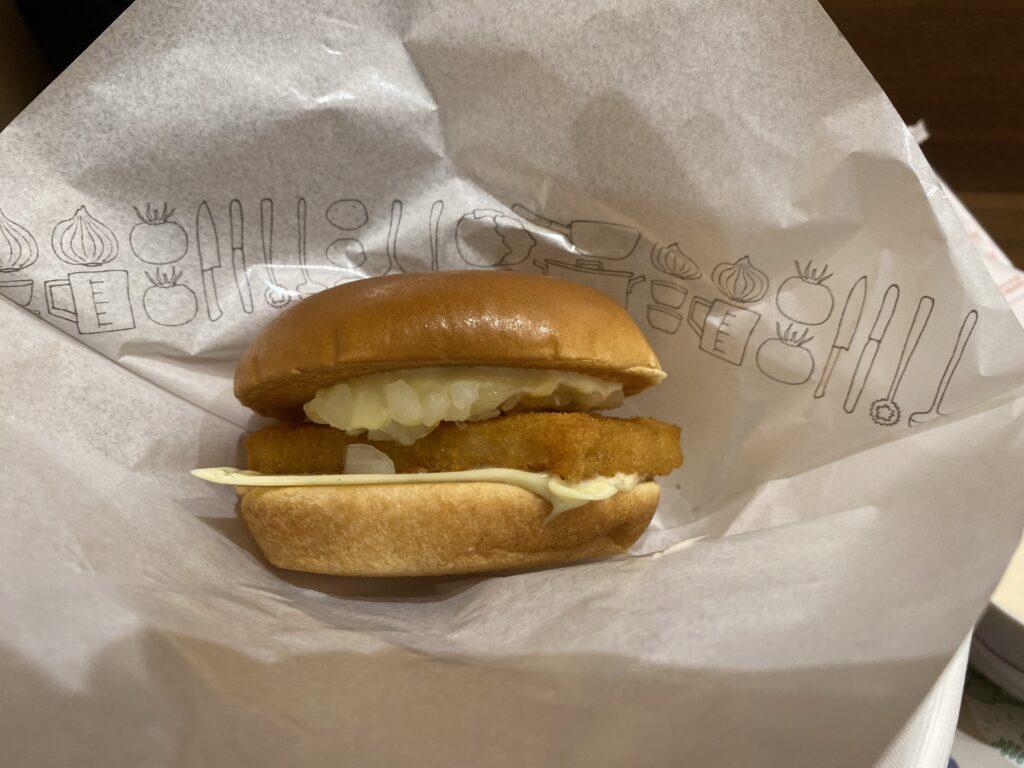 モスバーガーのフィッシュバーガーが美味しいらしい